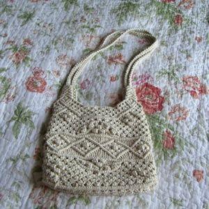 Vintage! Boho Macrame Handmade Shoulder Bag